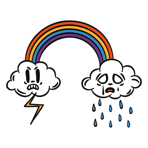 Funny rainbow cartoon