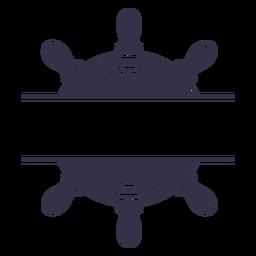 Ships rudder label