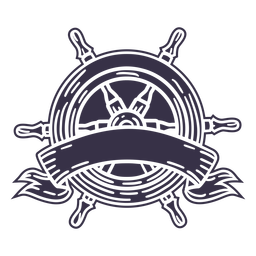 Rudder ship ribbon label