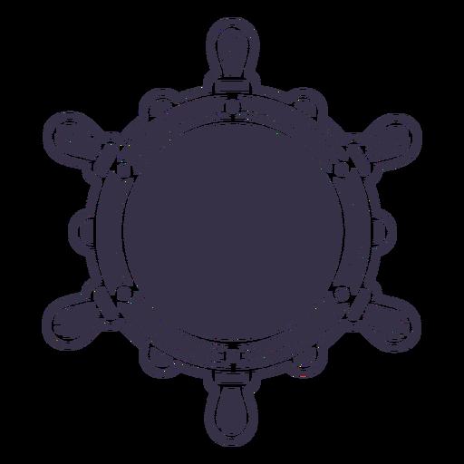 Rudder ship circle label