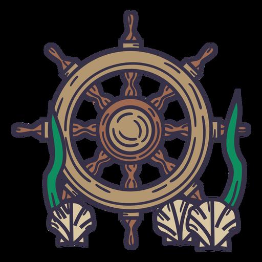 Ships rudder underwater