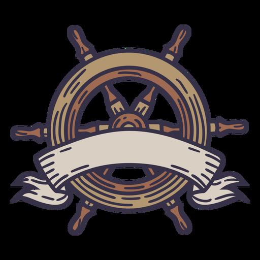 Rudder ship label illustration