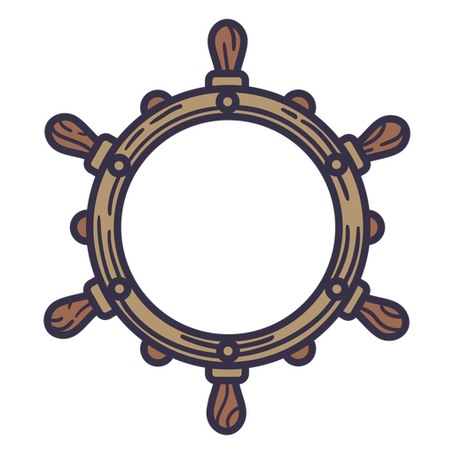Ship rudder circle label