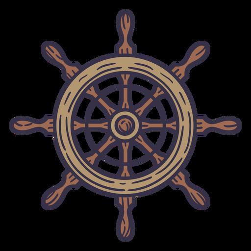 Ship detailed steering wheel color stroke