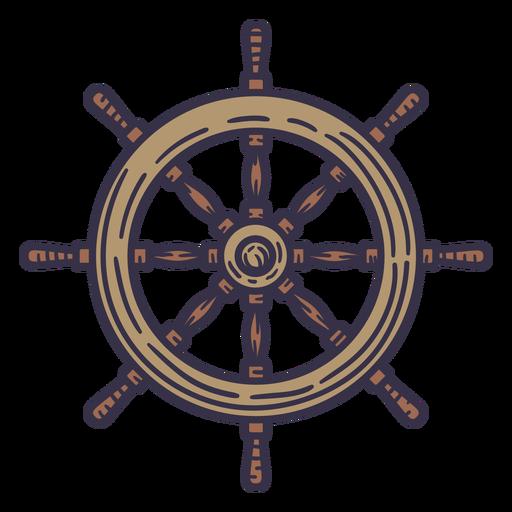 Ship color stroke steering wheel