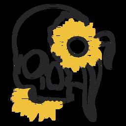 Sunflower broken skull