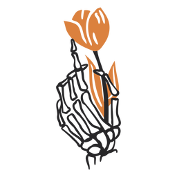 Skeleton hand tulip