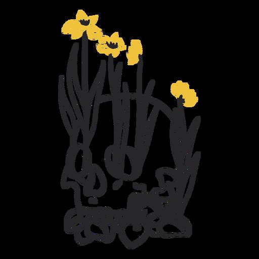Flowers growing in skull