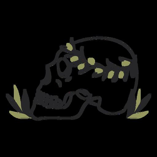 Skeleton leaves crown