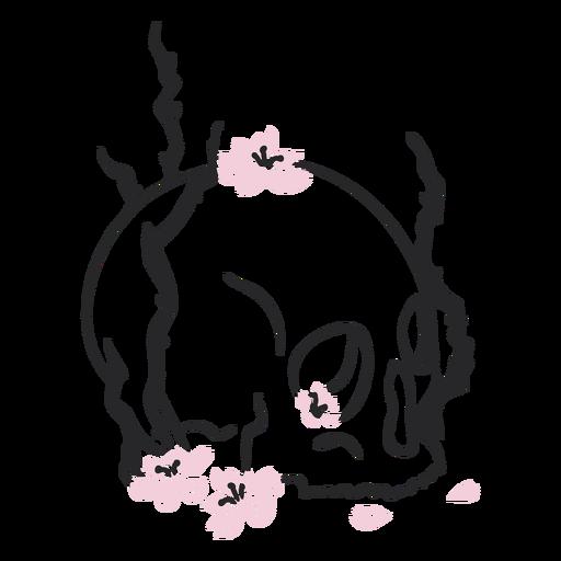 Skull cherry flowers