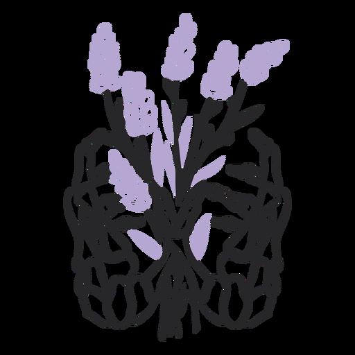 Skeleton hands bouquet