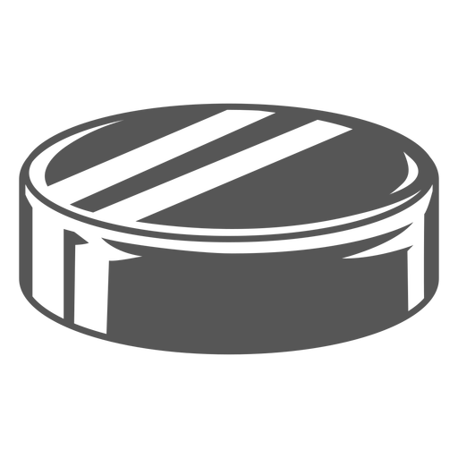 Flat hockey puck from side