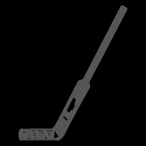 Flat side hockey stick