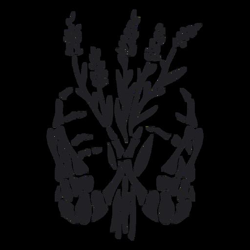 Skeleton hands bouquet cut out