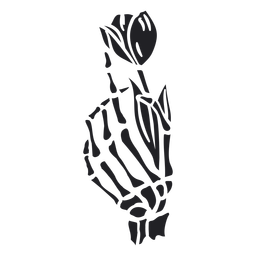Skeleton hand rose cut out