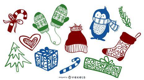 Paquete de vectores de navidad