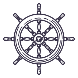Stroke detailed ship steering wheel