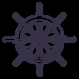 Detailed stroke ship steering wheel