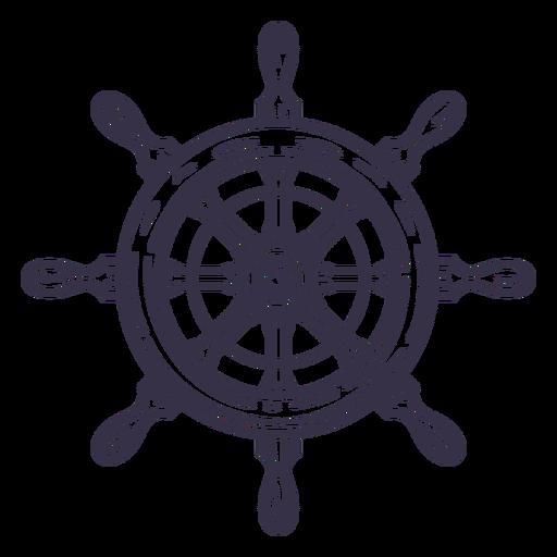 Stroke ship detailed steering wheel