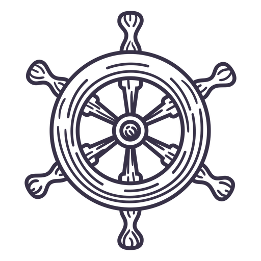 Ship detailed steering wheel stroke
