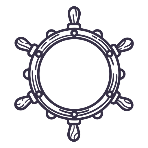 Ship steering wheel stroke with empty center