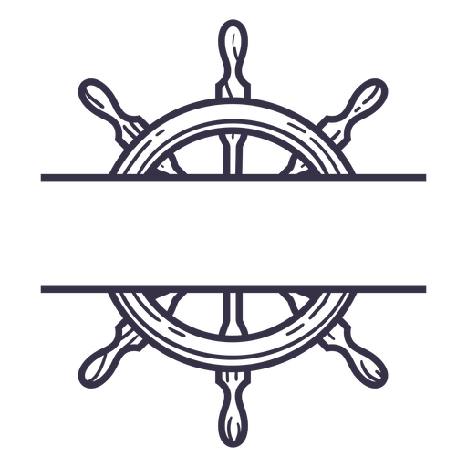 Ship steering wheel stroke badge without text