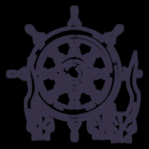 Ship steering wheel underwater stroke