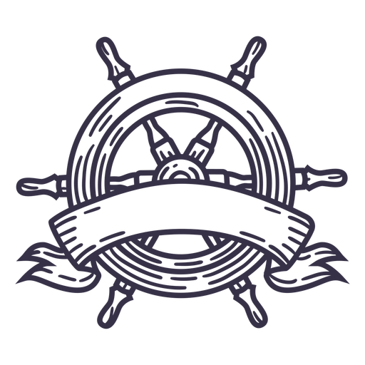 Stroke ship steering wheel badge without text