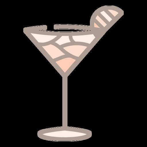Cocktail glass color stroke