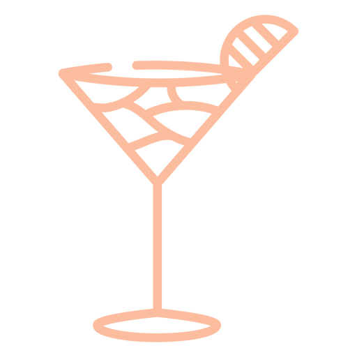 Cocktail glass pink stroke