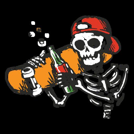 Skeleton skater illustration