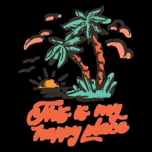 Beach island happy place badge