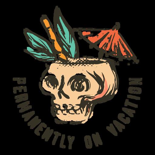 Skull drink summer badge