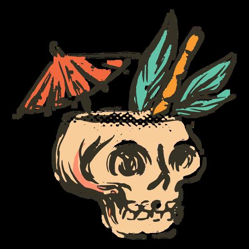 Skull tropical drink