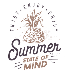 Summer pineapple badge