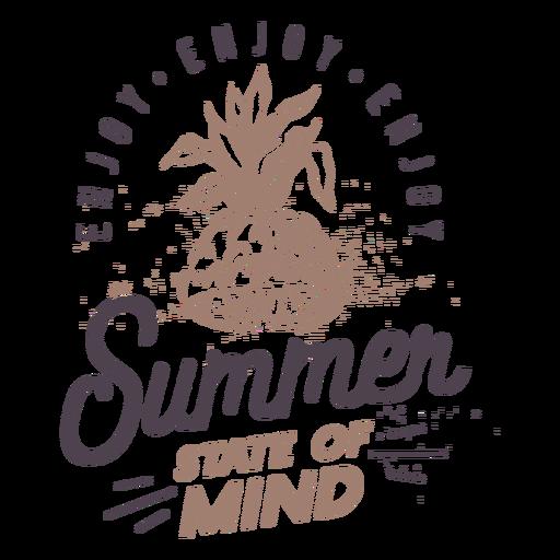 Letras de elementos de insignias de verano - 19
