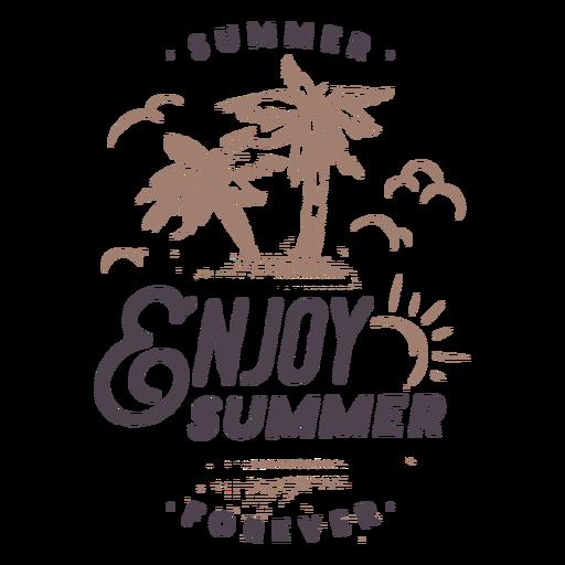 Enjoy summer quote badge