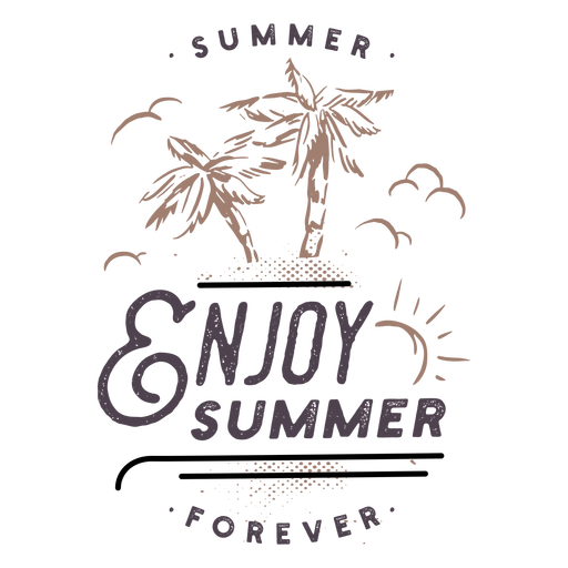 Letras de elementos de insignias de verano - 21