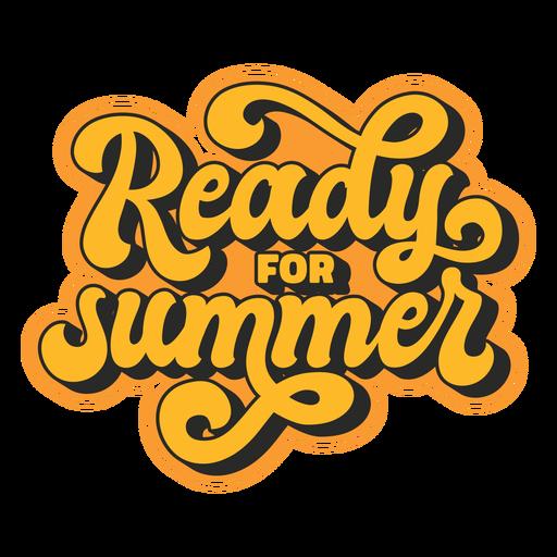 Summer retro lettering