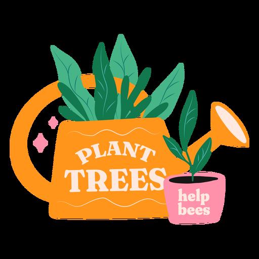 Plant trees help bees badge