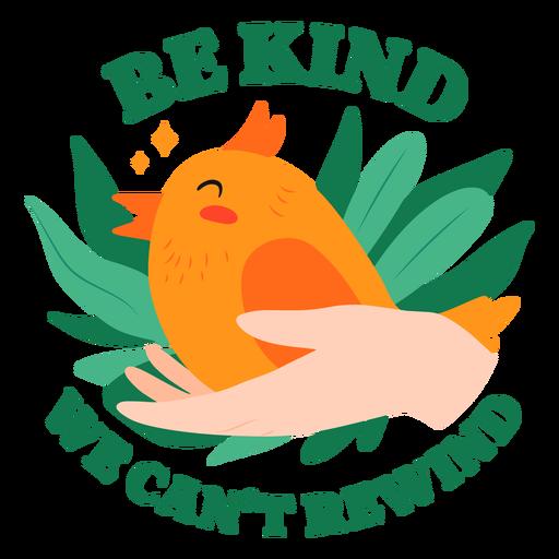 Bird in hand badge