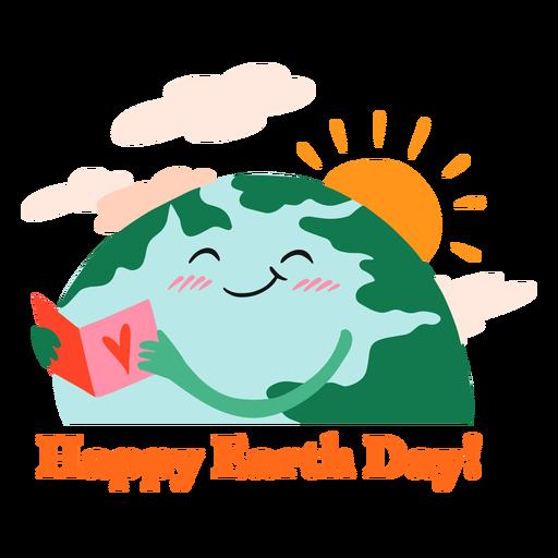 Happy earth day badge