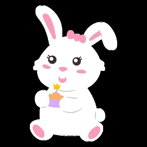 Bunny with cupcake cute