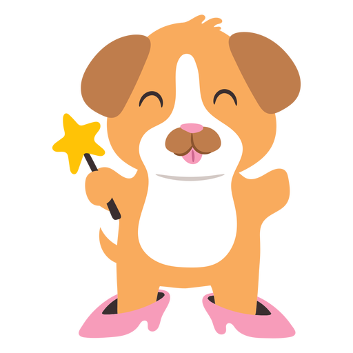 Dog fairy cute