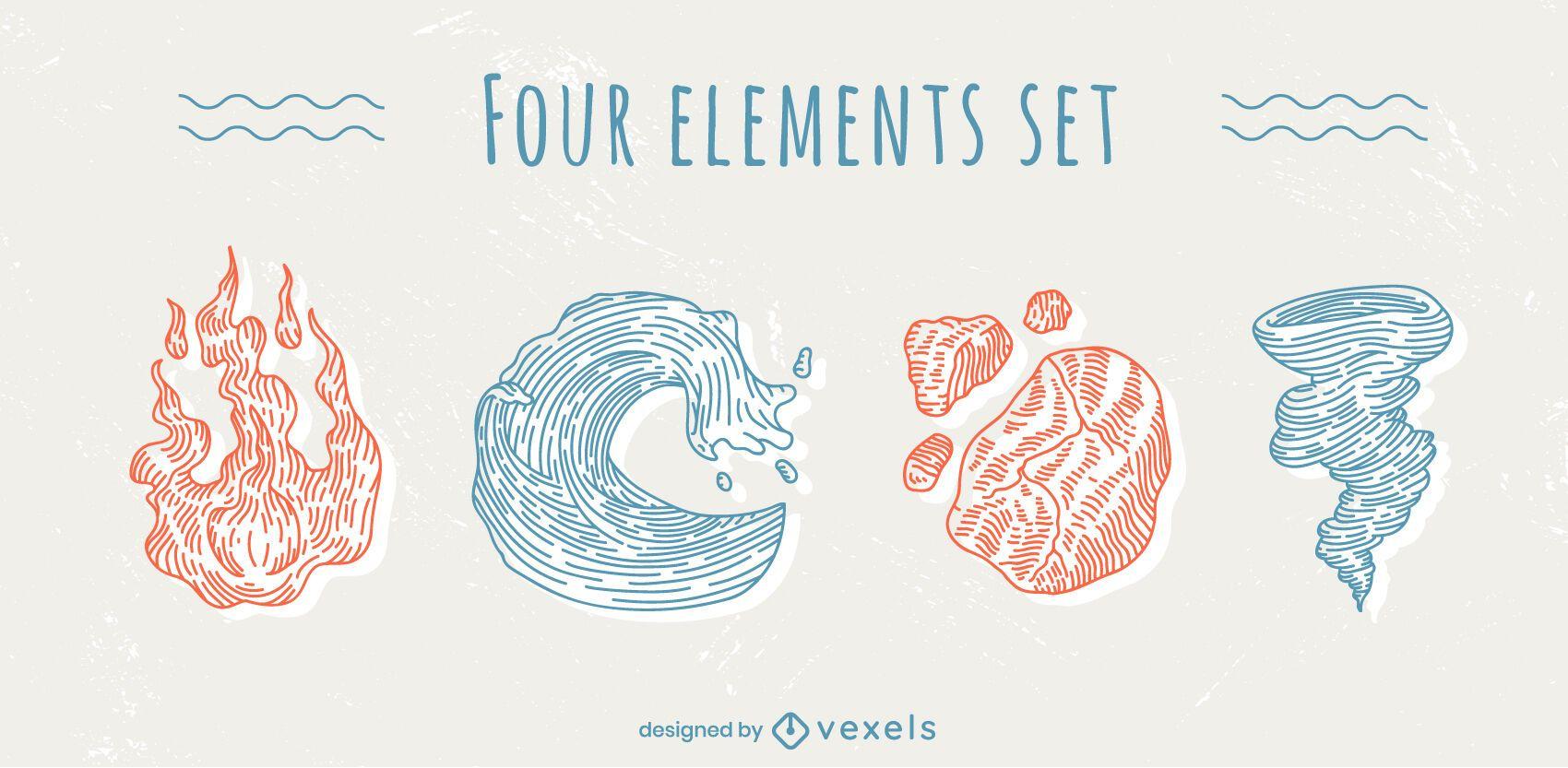 Pack de cuatro elementos clásicos