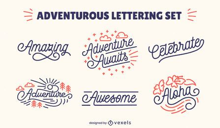 Adventurous lettering collection