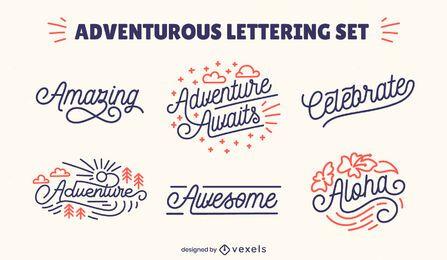 Colección de letras aventureras
