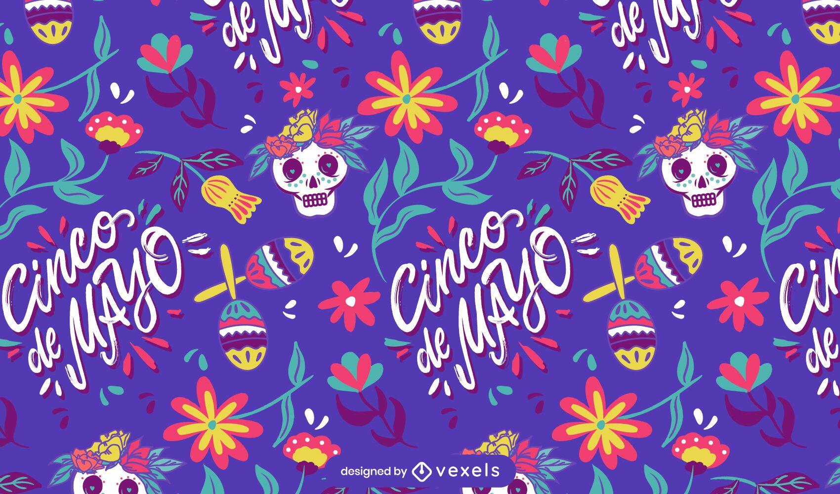 Cinco de Mayo Maracas Muster