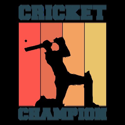 Cricket sport champion badge
