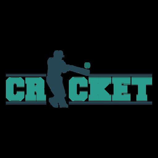 Cricket sport badge silhouette